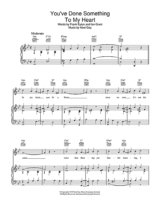 Noel Gay You've Done Something To My Heart sheet music notes and chords. Download Printable PDF.