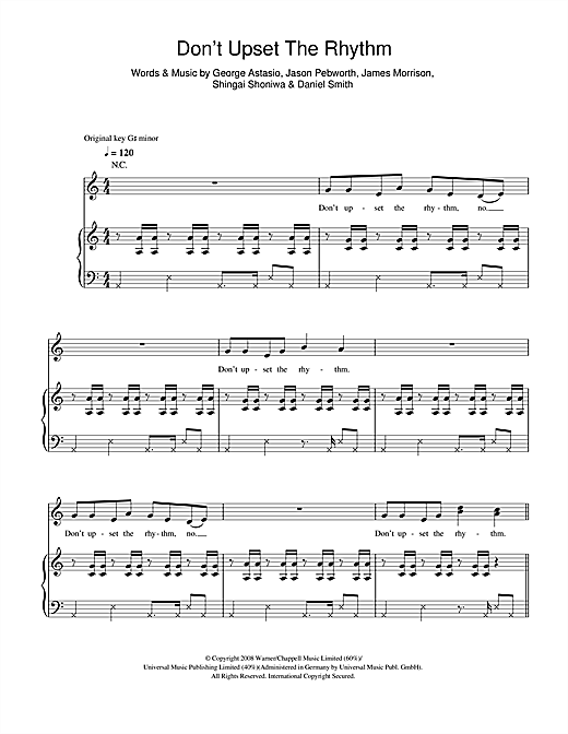 Noisettes Don't Upset The Rhythm sheet music notes and chords. Download Printable PDF.