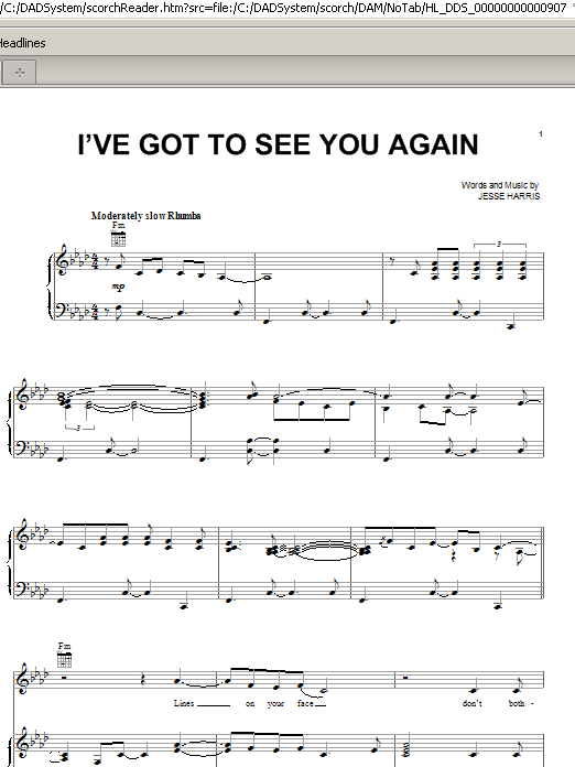 Norah Jones I've Got To See You Again sheet music notes and chords