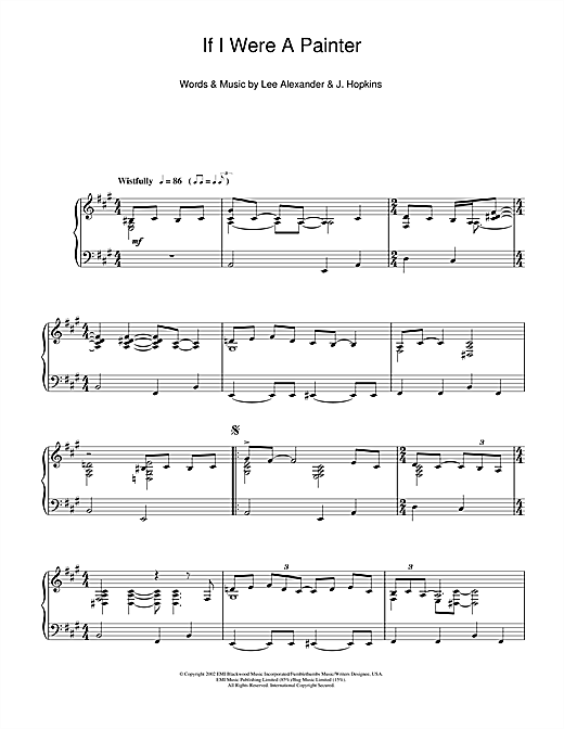 Norah Jones If I Were A Painter sheet music notes and chords