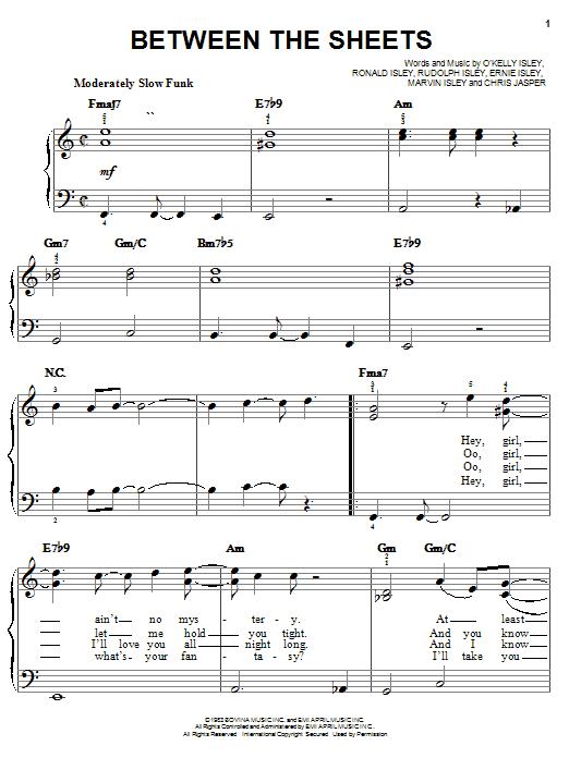 O'Kelly Isley Jr. Between The Sheets sheet music notes and chords. Download Printable PDF.