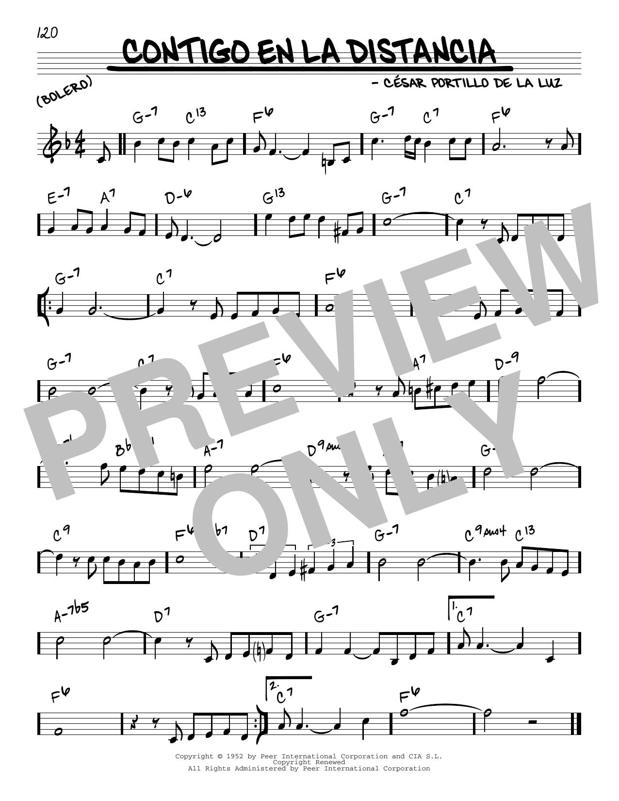 Olga Guillot Contigo En La Distancia sheet music notes and chords. Download Printable PDF.