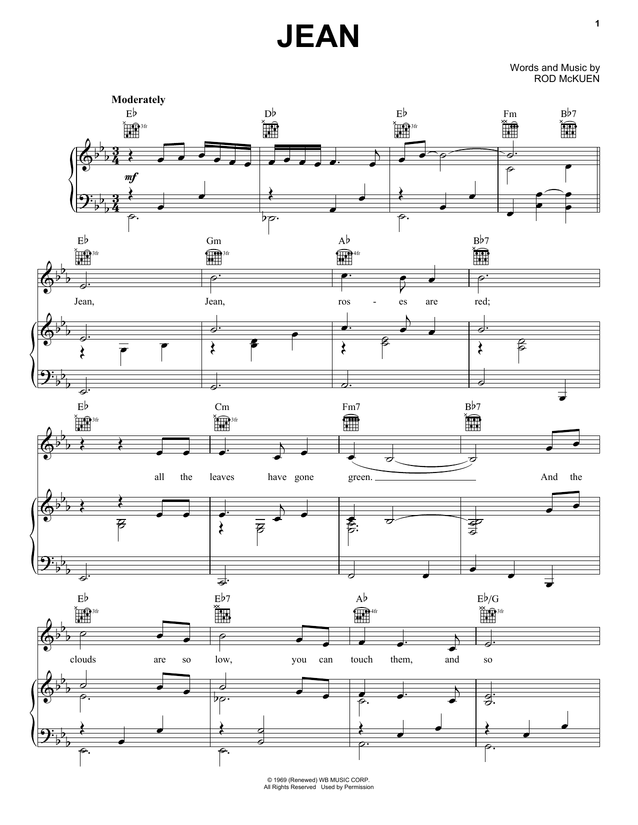 Oliver Jean sheet music notes and chords. Download Printable PDF.