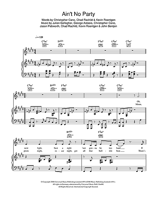 Orson Ain't No Party sheet music notes and chords. Download Printable PDF.
