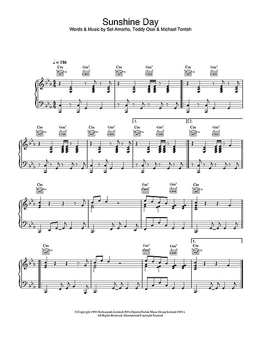 Osibisa Sunshine Day sheet music notes and chords. Download Printable PDF.