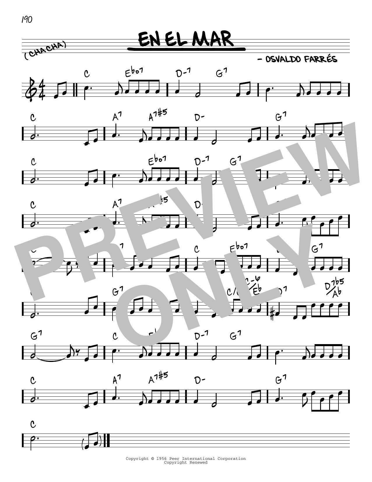 Osvaldo Farres En El Mar sheet music notes and chords. Download Printable PDF.