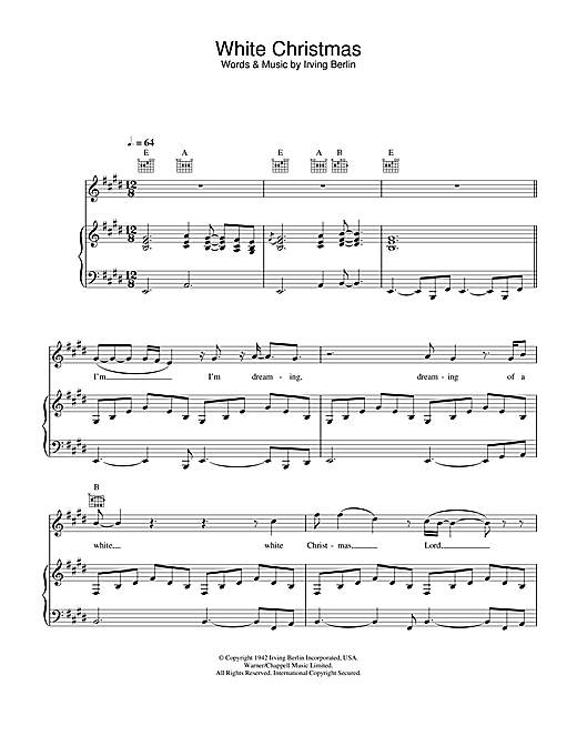 Otis Redding White Christmas sheet music notes and chords. Download Printable PDF.