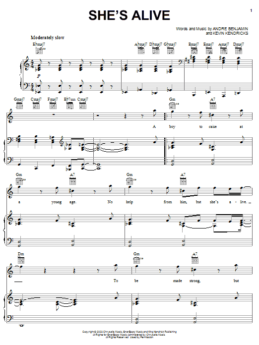OutKast She's Alive sheet music notes and chords. Download Printable PDF.