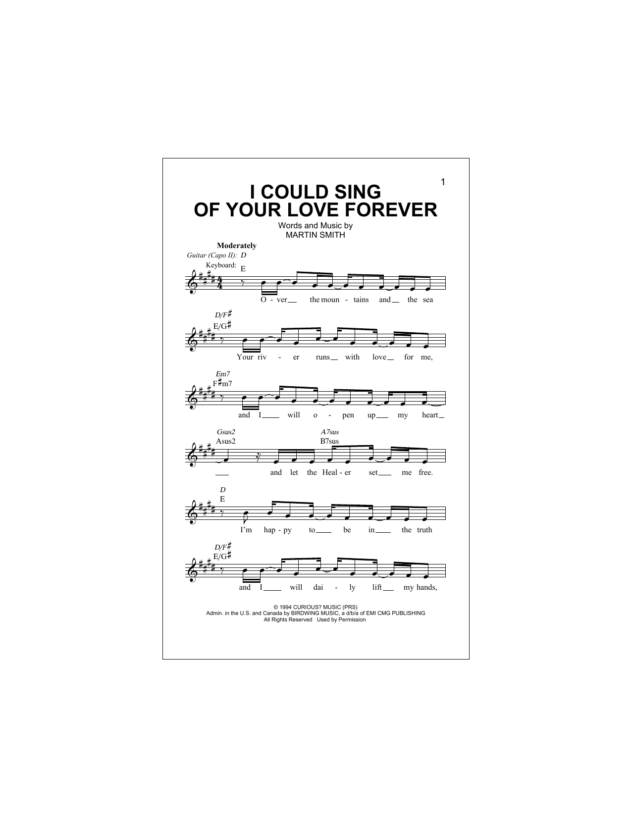 Passion I Could Sing Of Your Love Forever sheet music notes and chords. Download Printable PDF.