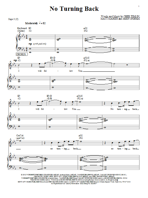 Passion No Turning Back sheet music notes and chords. Download Printable PDF.