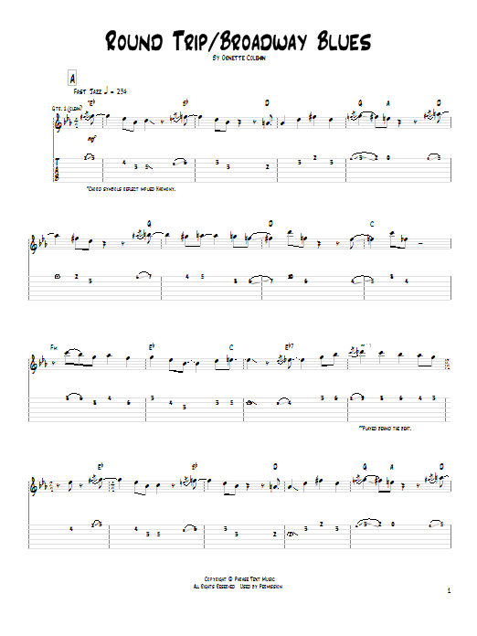 Pat Metheny Round Trip / Broadway Blues sheet music notes and chords. Download Printable PDF.