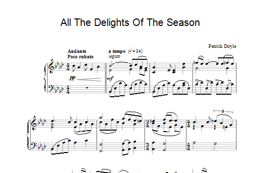 Patrick Doyle All The Delights Of The Season (from Sense And Sensibility) sheet music notes and chords. Download Printable PDF.
