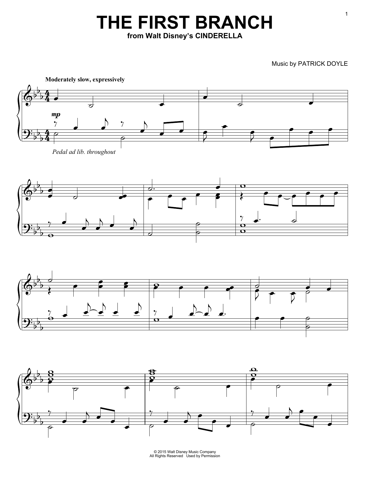 Patrick Doyle The First Branch sheet music notes and chords. Download Printable PDF.