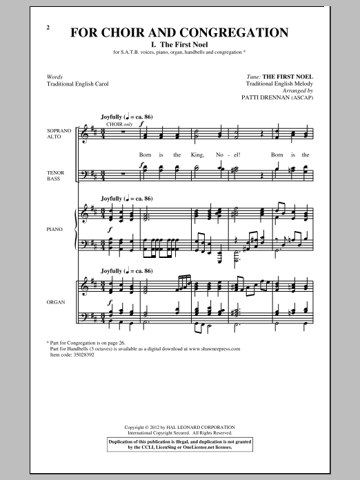 Patti Drennan For Choir And Congregation, Volume 3 sheet music notes and chords. Download Printable PDF.