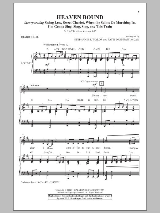 Patti Drennan I'm Gonna Sing, Sing, Sing sheet music notes and chords. Download Printable PDF.