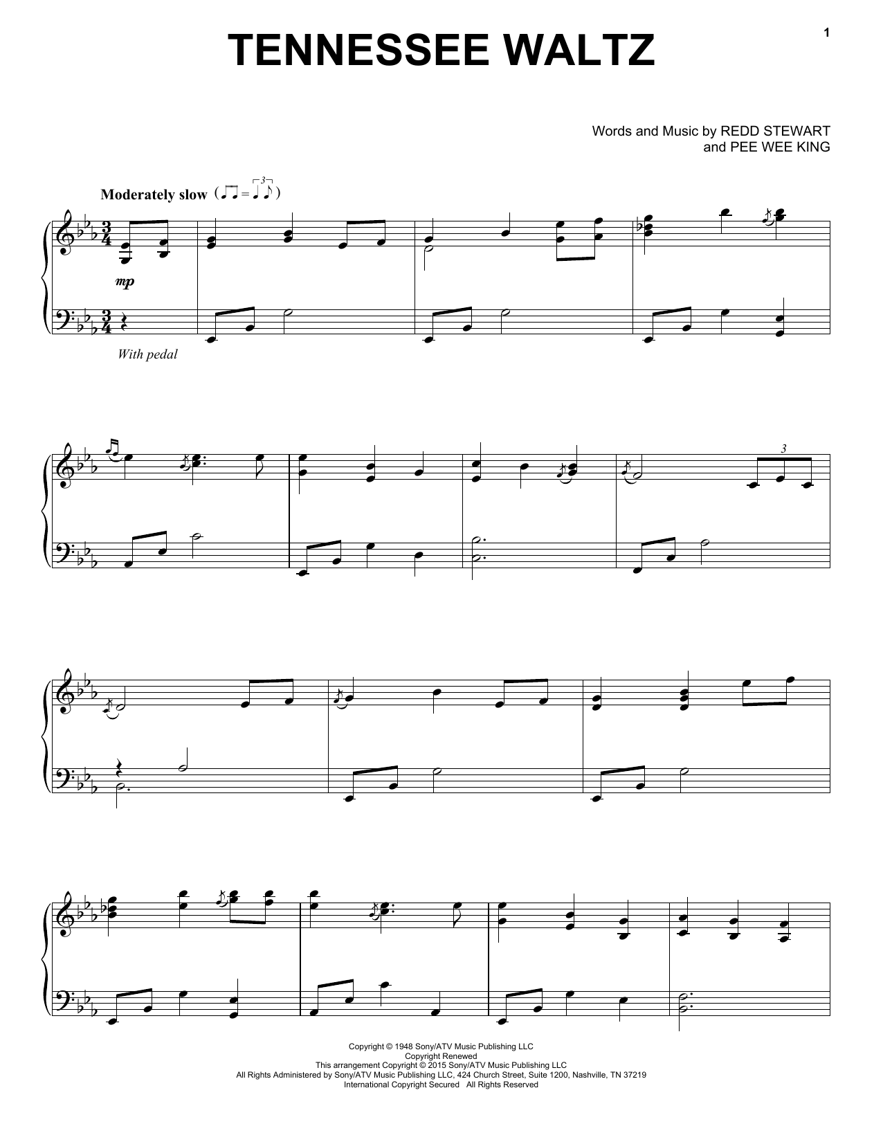 Patty Page Tennessee Waltz sheet music notes and chords. Download Printable PDF.