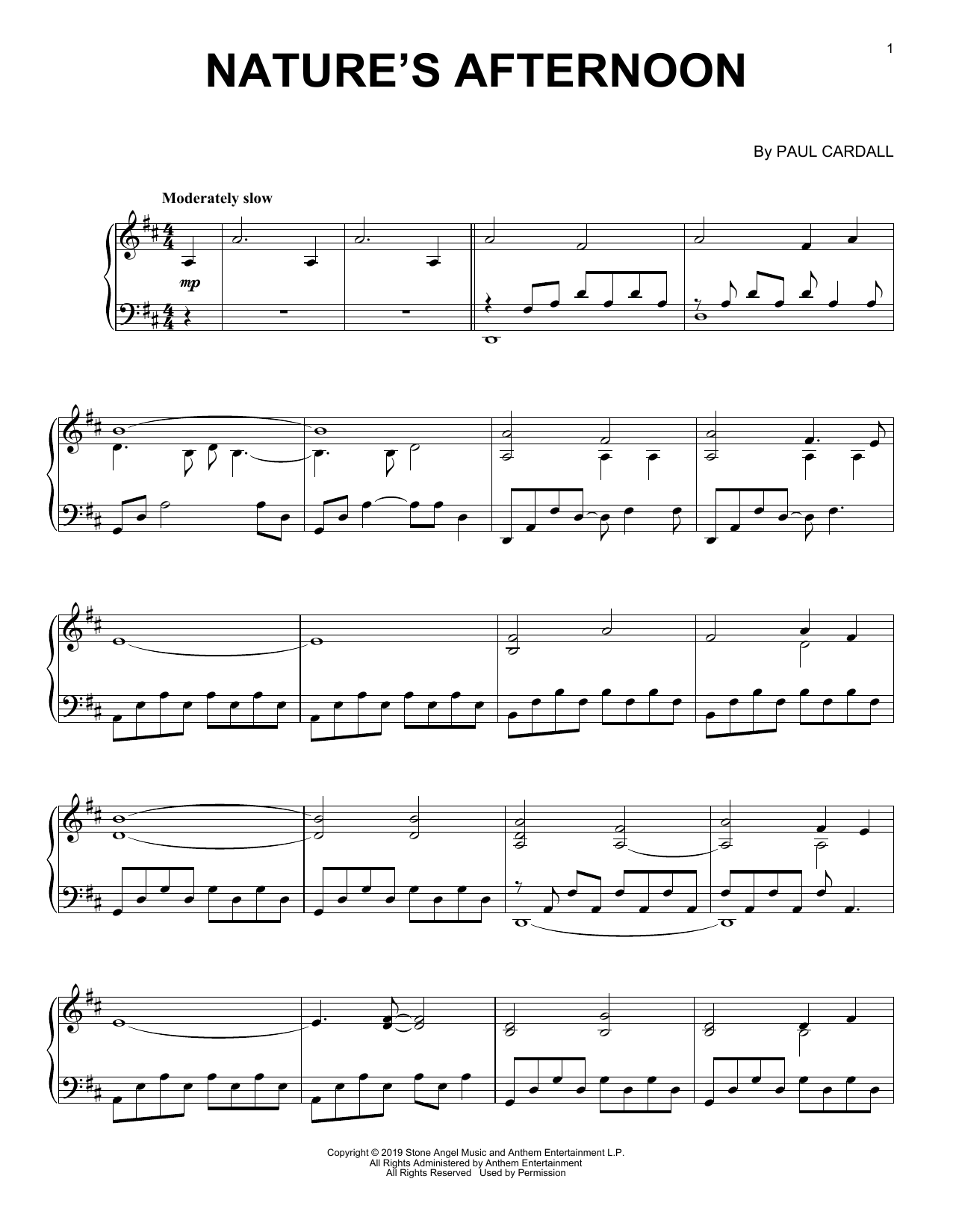 Paul Cardall Nature's Afternoon sheet music notes and chords. Download Printable PDF.
