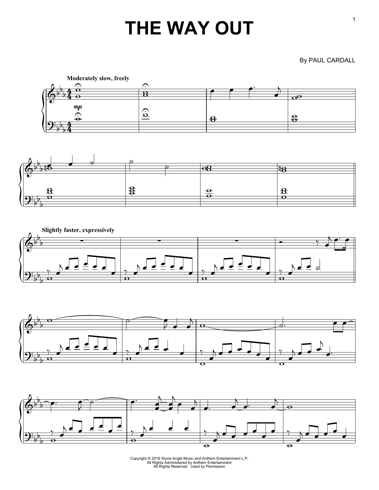 Paul Cardall The Way Out sheet music notes and chords. Download Printable PDF.