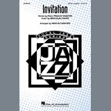 Download Paul Francis Webster and Bronislau Kaper 'Invitation (arr. Paris Rutherford)' Printable PDF 18-page score for Jazz / arranged SATB Choir SKU: 425240.