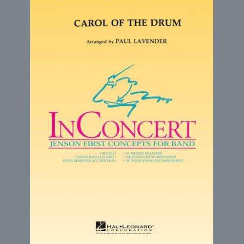 Paul Lavender, Carol of the Drum - Bb Trumpet 1, Concert Band