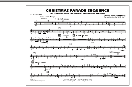 Paul Lavender Christmas Parade Sequence - 2nd Bb Trumpet sheet music notes and chords