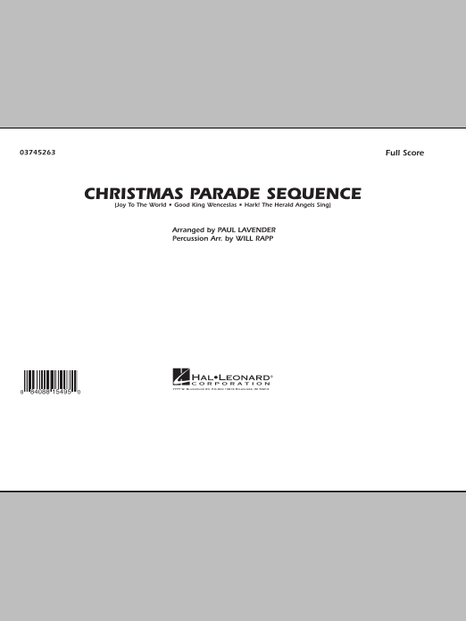 Paul Lavender Christmas Parade Sequence - Conductor Score (Full Score) sheet music notes and chords. Download Printable PDF.