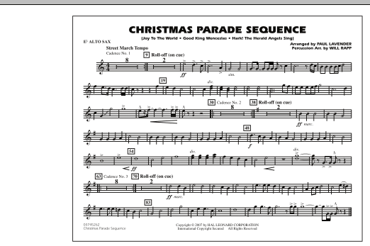 Paul Lavender Christmas Parade Sequence - Eb Alto Sax sheet music notes and chords
