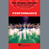 Download or print Paul Lavender Five Olympic Fanfares - 1st Bb Trumpet Sheet Music Printable PDF 1-page score for Olympics / arranged Marching Band SKU: 284789.