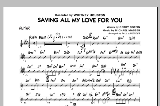 Paul Lavender Saving All My Love For You - Guitar sheet music notes and chords. Download Printable PDF.