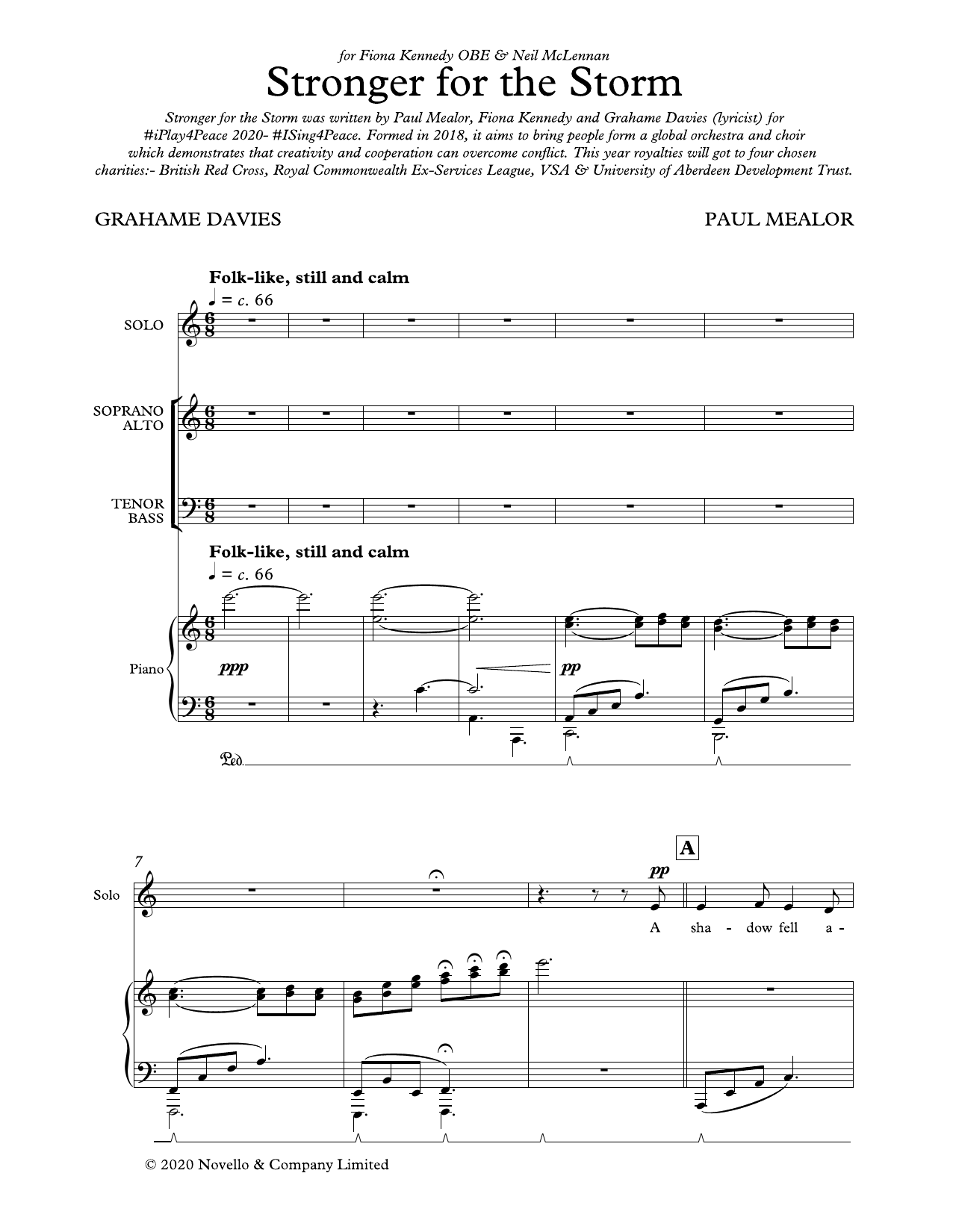 Paul Mealor Stronger For The Storm sheet music notes and chords. Download Printable PDF.