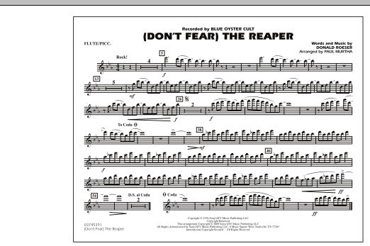 Paul Murtha (Don't Fear) The Reaper - Flute/Piccolo sheet music notes and chords