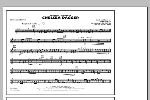 Paul Murtha Chelsea Dagger - Bells/Xylophone sheet music notes and chords. Download Printable PDF.