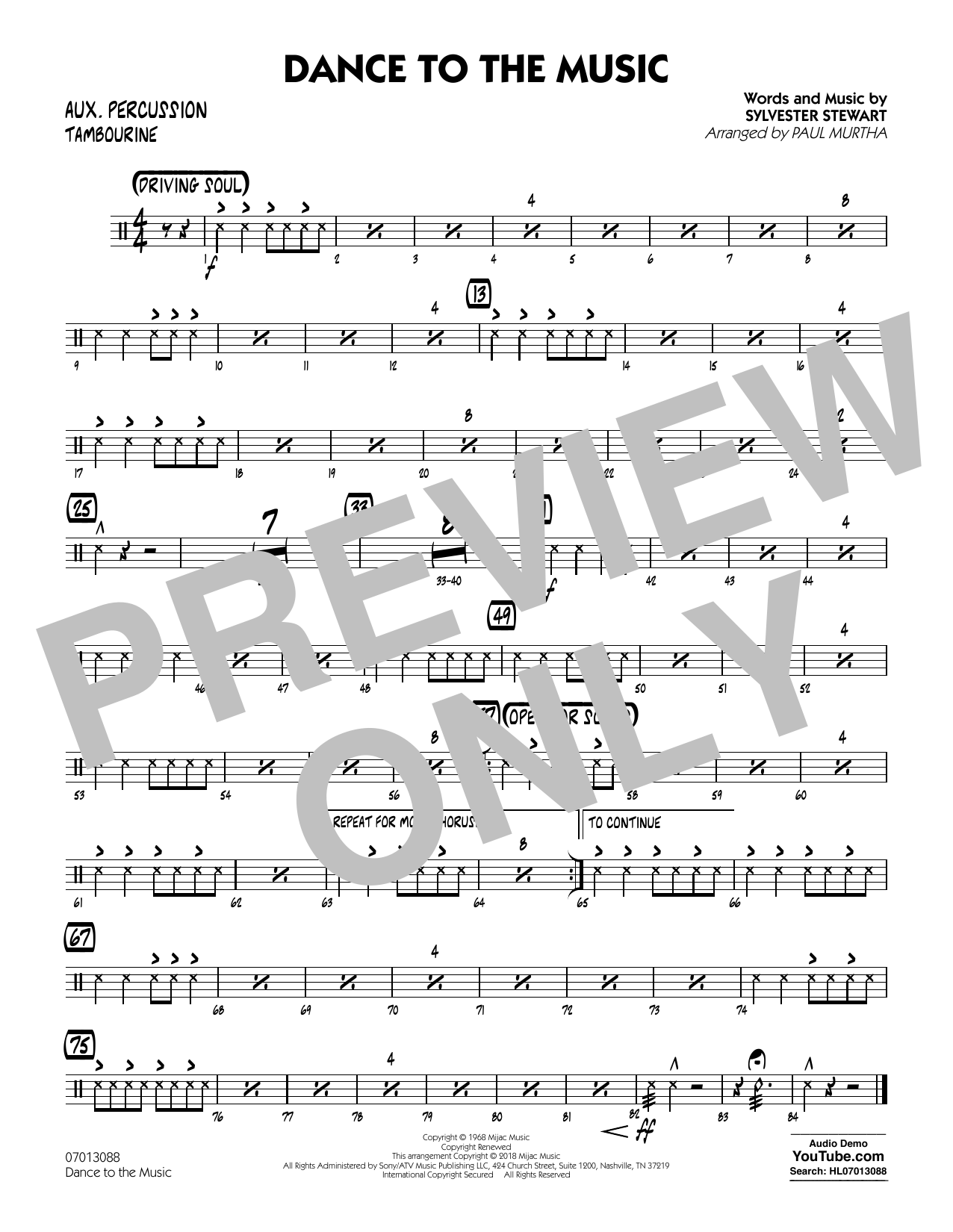 Paul Murtha Dance to the Music - Flute sheet music notes and chords. Download Printable PDF.