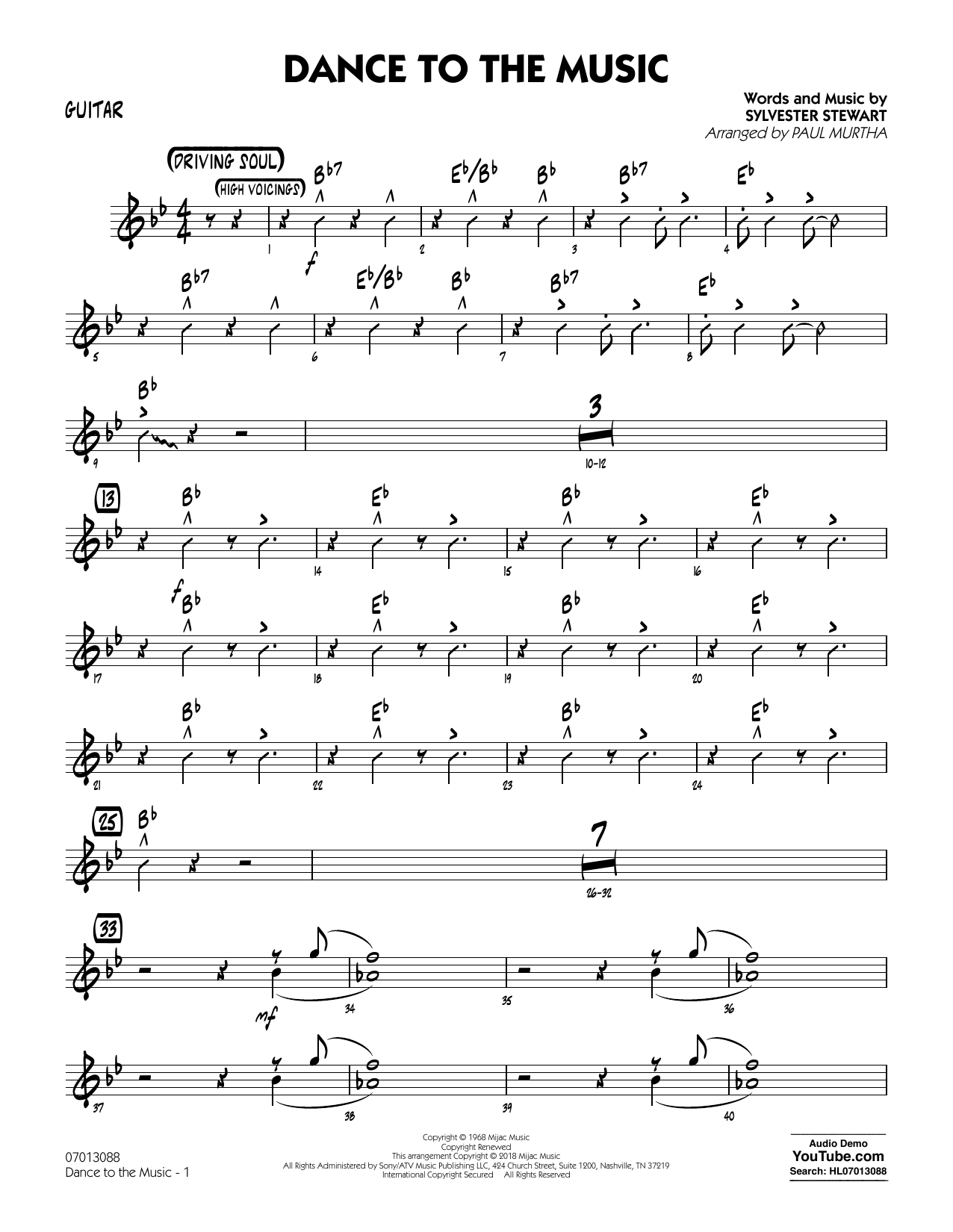 Paul Murtha Dance to the Music - Piano sheet music notes and chords. Download Printable PDF.