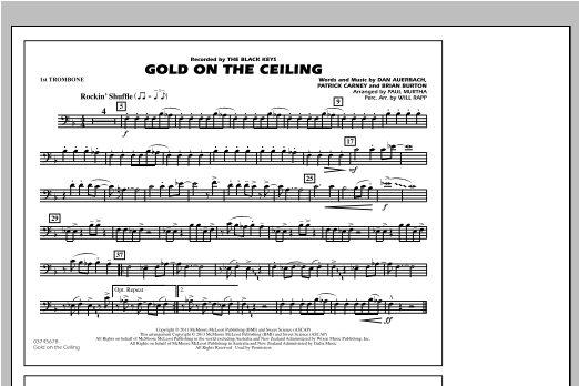 Paul Murtha Gold On The Ceiling - 1st Trombone sheet music notes and chords. Download Printable PDF.