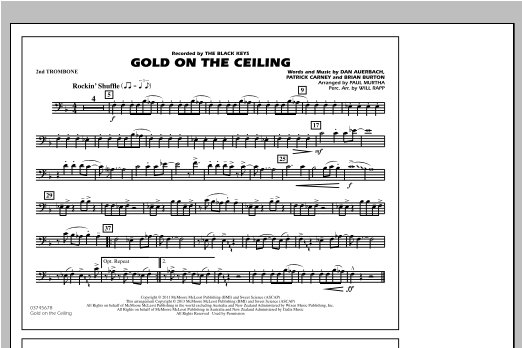 Paul Murtha Gold On The Ceiling - 2nd Trombone sheet music notes and chords. Download Printable PDF.