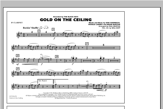 Paul Murtha Gold On The Ceiling - Bb Clarinet sheet music notes and chords. Download Printable PDF.
