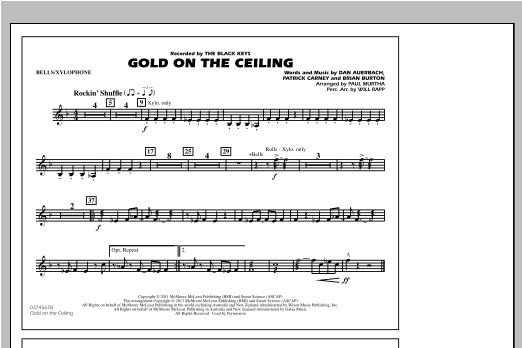 Paul Murtha Gold On The Ceiling - Bells/Xylophone sheet music notes and chords. Download Printable PDF.