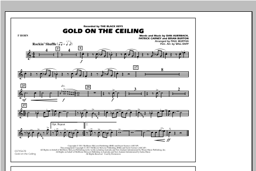 Paul Murtha Gold On The Ceiling - F Horn sheet music notes and chords. Download Printable PDF.