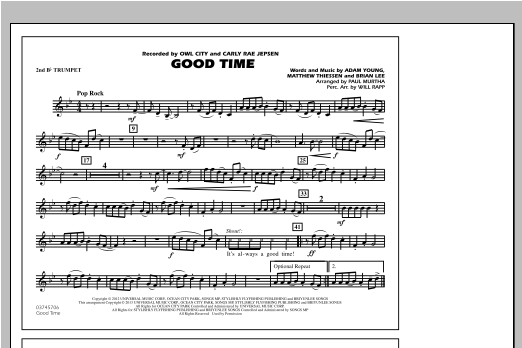 Paul Murtha Good Time - 2nd Bb Trumpet sheet music notes and chords. Download Printable PDF.