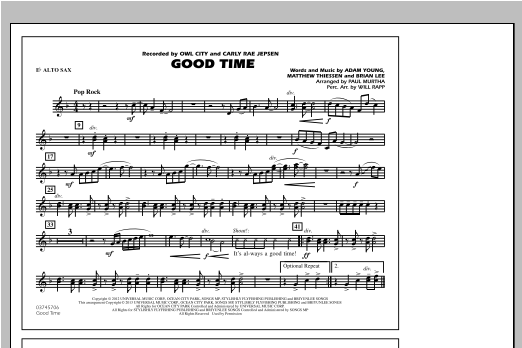 Paul Murtha Good Time - Eb Alto Sax sheet music notes and chords. Download Printable PDF.