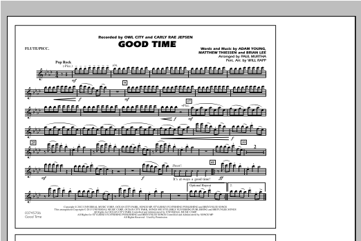 Paul Murtha Good Time - Flute/Piccolo sheet music notes and chords. Download Printable PDF.