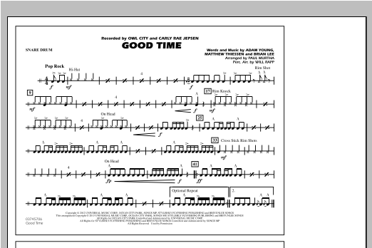 Paul Murtha Good Time - Snare Drum sheet music notes and chords. Download Printable PDF.