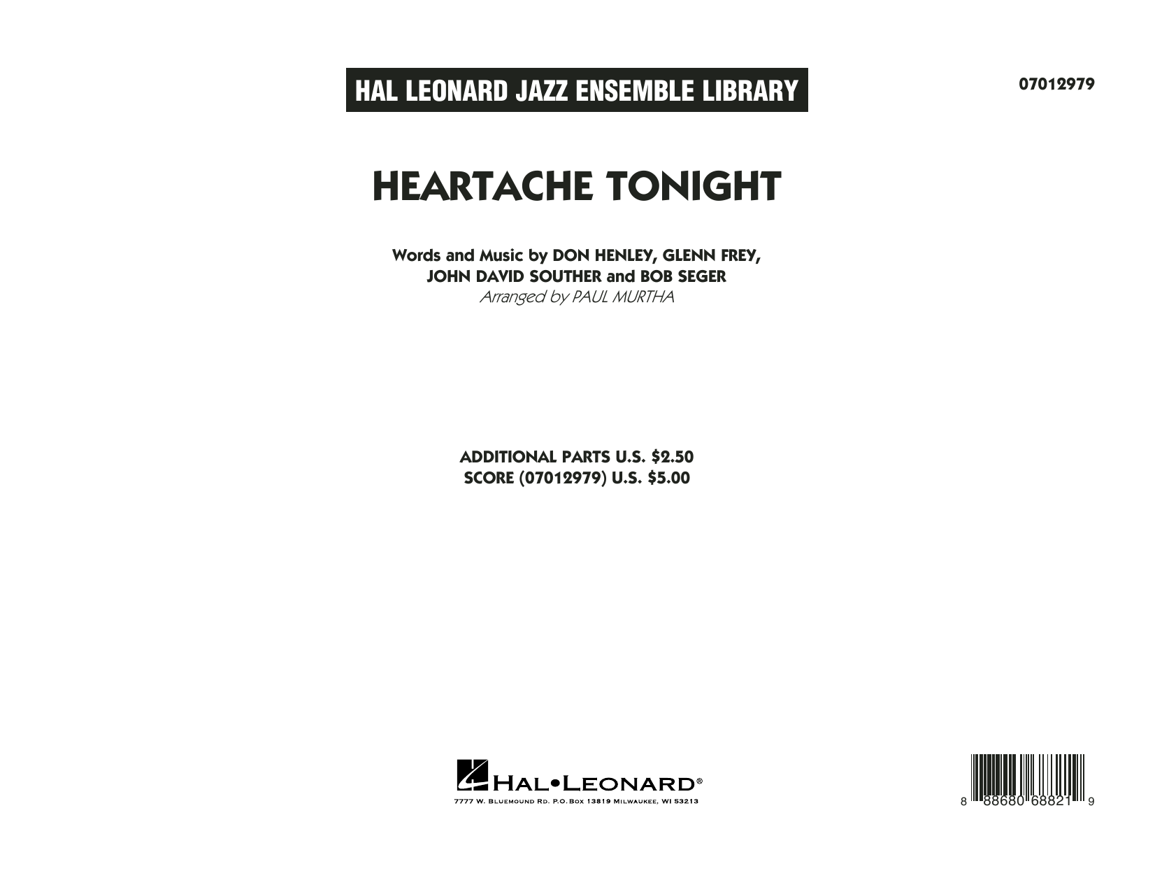 Paul Murtha Heartache Tonight - Conductor Score (Full Score) sheet music notes and chords. Download Printable PDF.