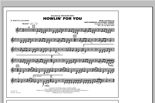 Paul Murtha Howlin' For You - Bb Horn/Flugelhorn sheet music notes and chords. Download Printable PDF.