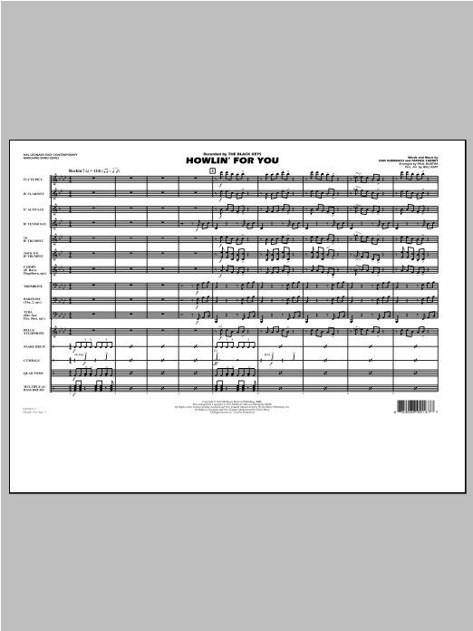 Paul Murtha Howlin' For You - Conductor Score (Full Score) sheet music notes and chords. Download Printable PDF.
