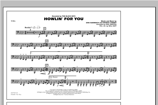 Paul Murtha Howlin' For You - Tuba sheet music notes and chords. Download Printable PDF.