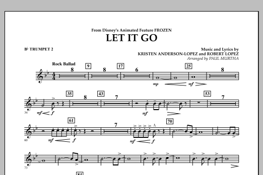 Paul Murtha Let It Go (from Frozen) - Bb Trumpet 2 sheet music notes and chords. Download Printable PDF.