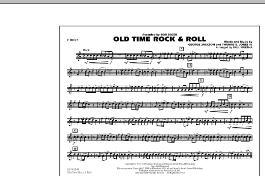 Paul Murtha Old Time Rock & Roll - F Horn sheet music notes and chords