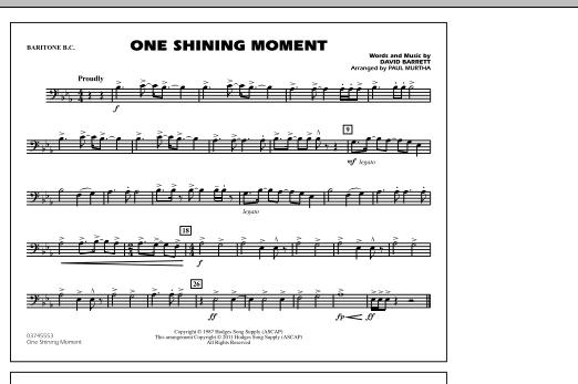 Paul Murtha One Shining Moment - Baritone B.C. sheet music notes and chords. Download Printable PDF.